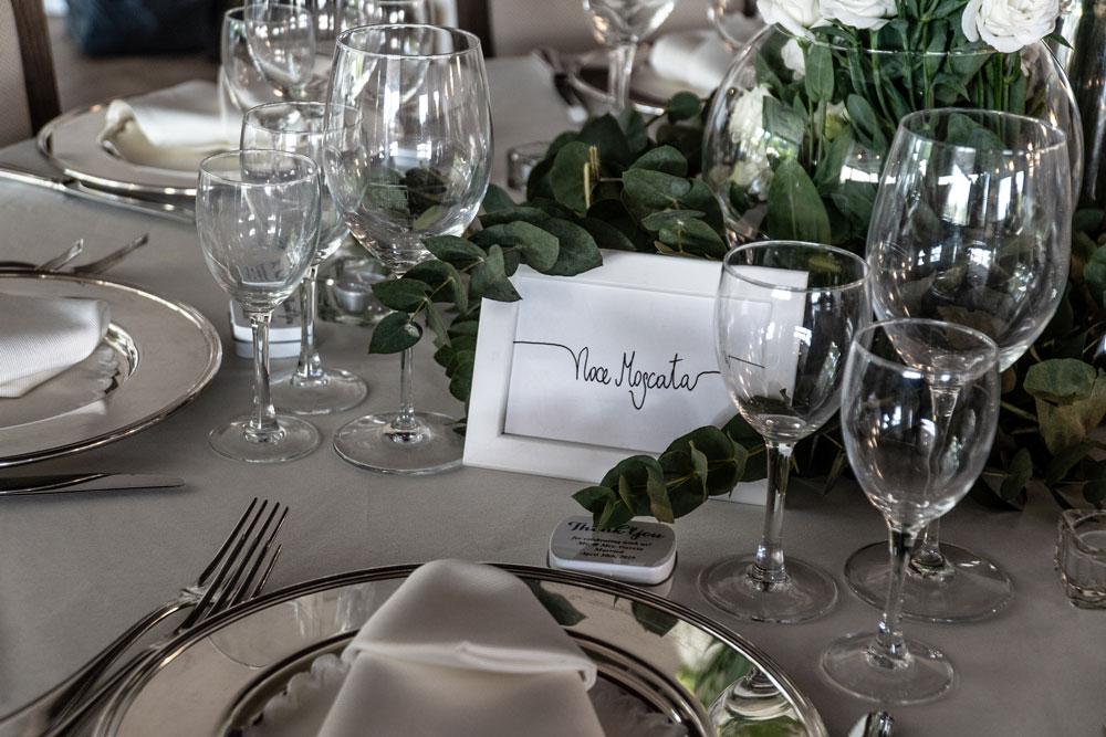 Dettaglio Tavolo Matrimoni Villa Parco della Vittoria