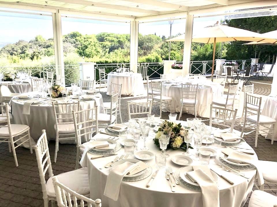 Allestimento catering - Villa per Matrimoni Villa Parco della Vittoria